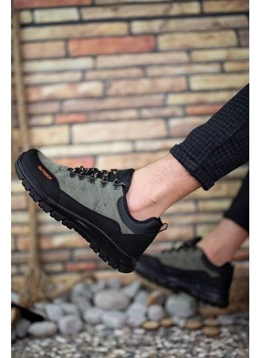 Riccon Haki Siyah Erkek Trekking Ayakkabı 0012114 Haki